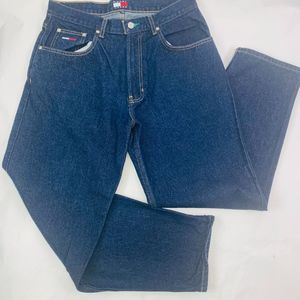 Tommy Jeans Mens 33x30 Blue Regular Fit Tapered